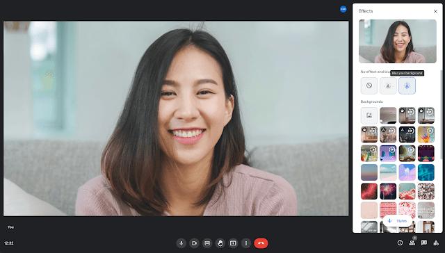 Google Meet visual effects