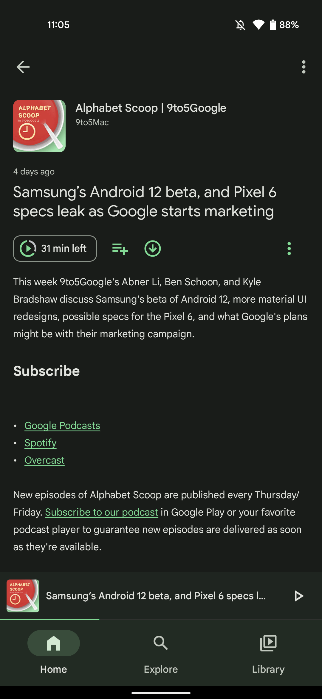 Google Podcasts Material You