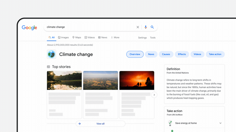 Google Search climate change