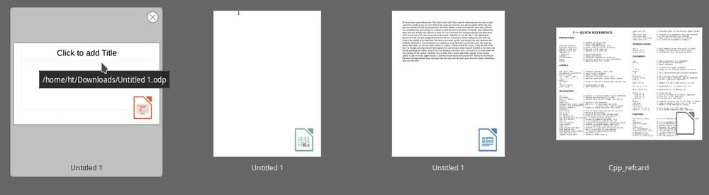 Icon overlaid for document thumbnails