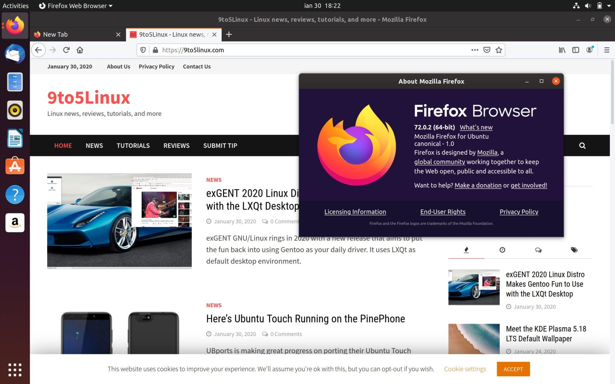 Firefox 72 0 2 Lands In Ubuntu S Repos Minor Regressions Fixed 9to5linux