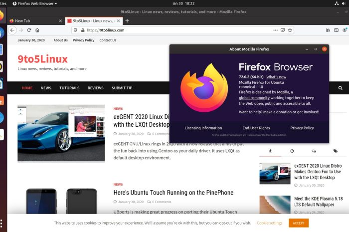 Firefox 72.0.2 Lands in Ubuntu's Repos, Minor Regressions Fixed