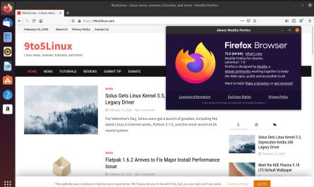 Firefox 73 on Ubuntu