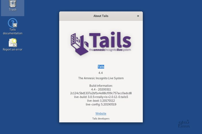 Tails 4.4 Anonymous OS Released with Tor Browser 9.0.6