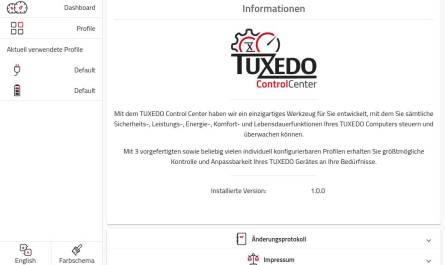 TUXEDO Control Center