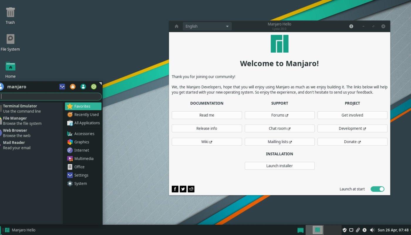 Manjaro Linux 20.0