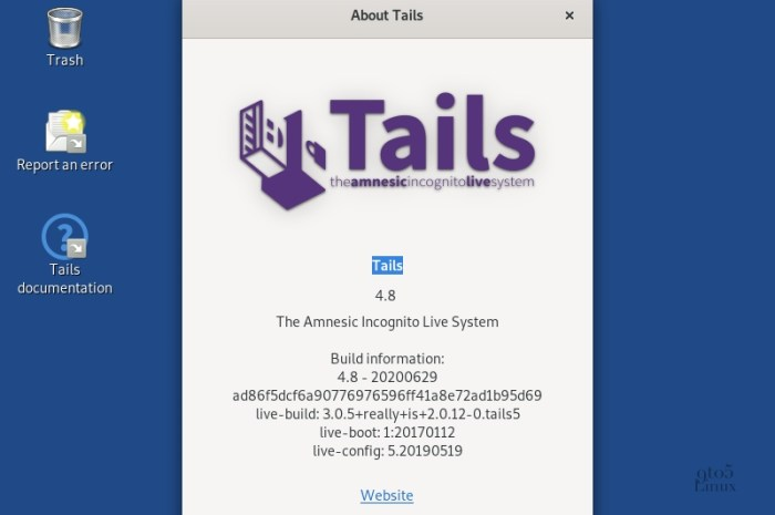 Tails 4.8 Anonymous OS Released with Linux Kernel 5.6, Improved Security