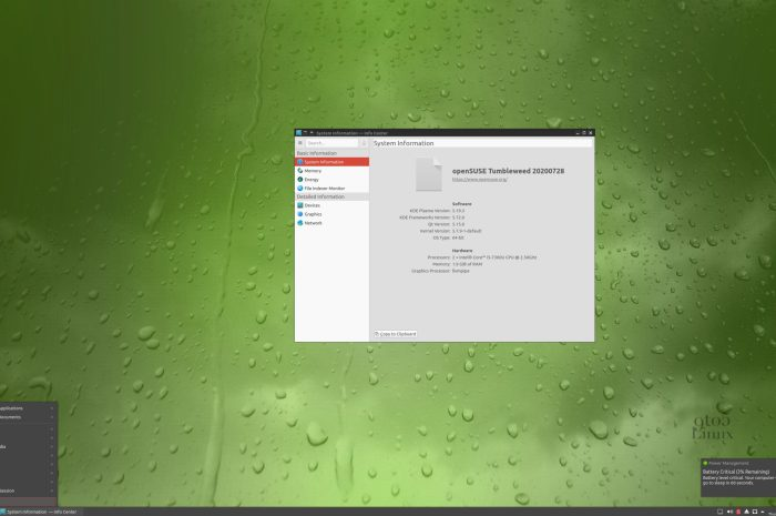 New GeckoLinux Rolling Editions Are Out Now, Based on openSUSE Tumbleweed
