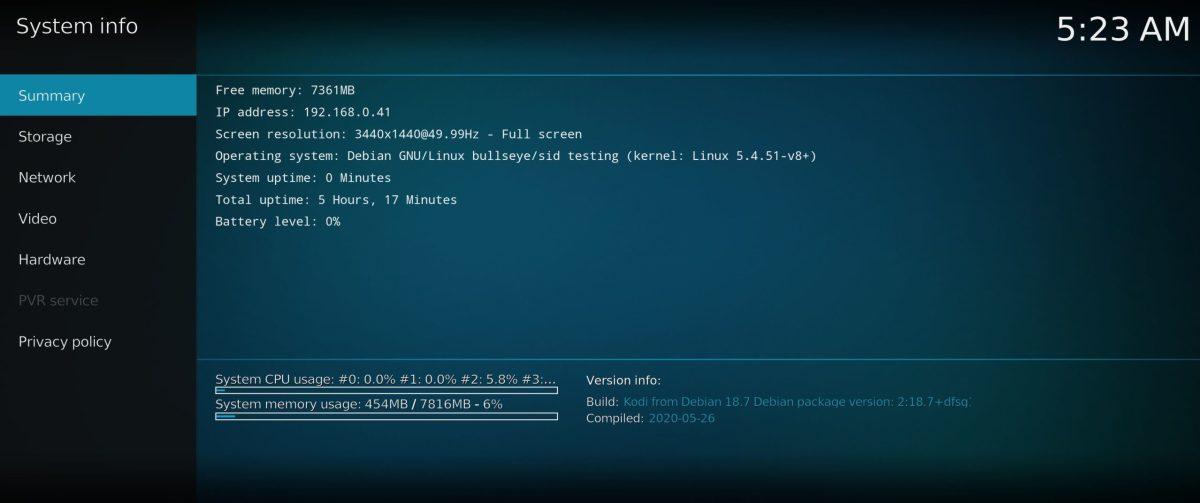 RaspEX Kodi OS