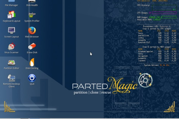 Parted Magic Distro Drops 32-Bit Support, Now Powered by Linux 5.8 and OverlayFS
