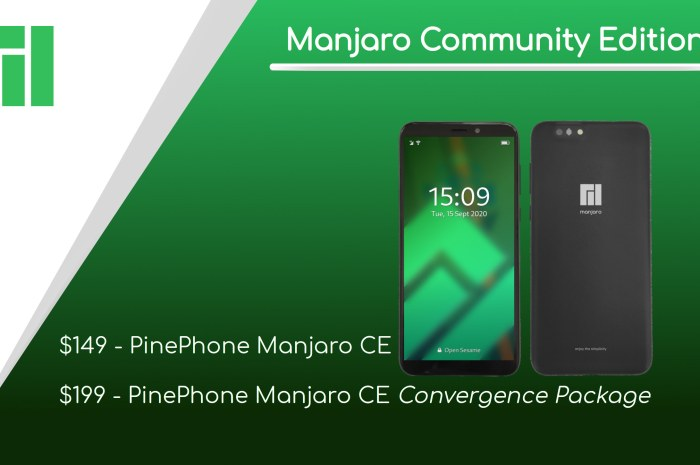 Manjaro-Powered PinePhone Linux Phone Is Coming in September from $149