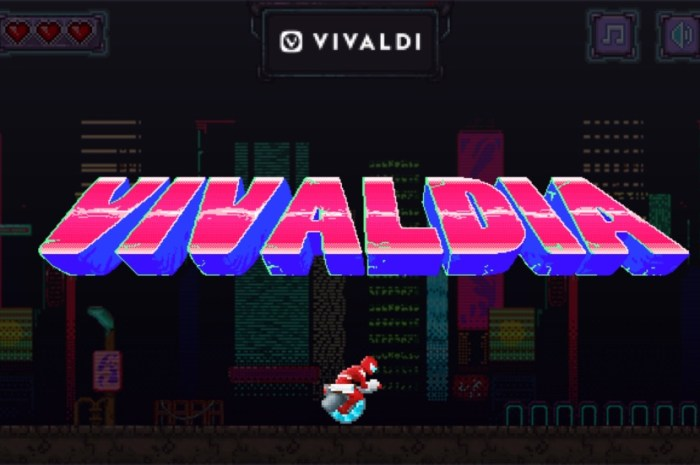 Vivaldi Web Browser Brings Back the 80s with Built-In Retro Arcade Game