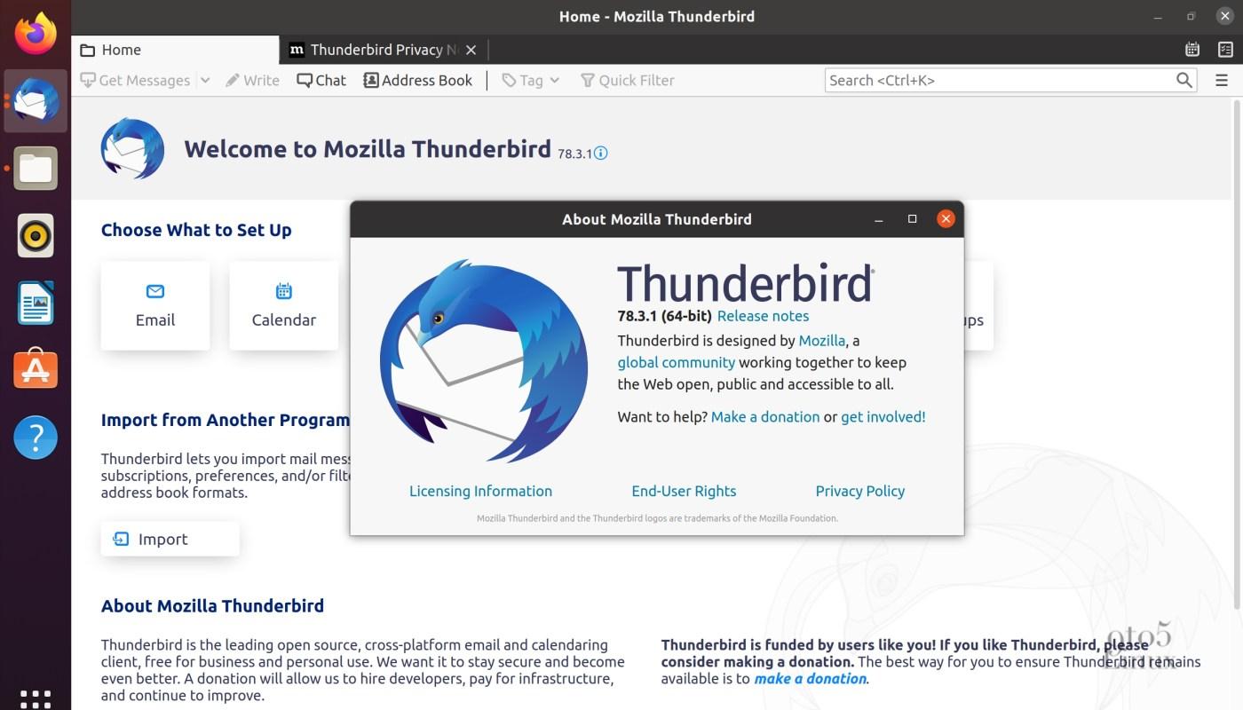 Mozilla Thunderbird 78.3