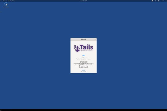 Tails 4.13 Anonymous Linux Distro Released with Mozilla Thunderbird 78