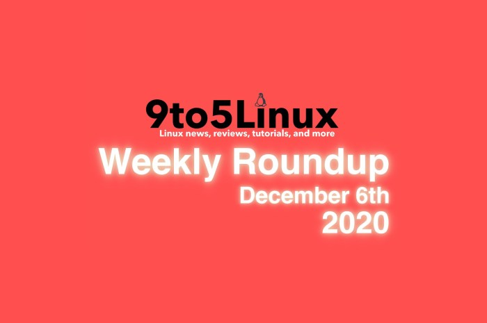 9to5Linux Weekly Roundup: December 6th, 2020