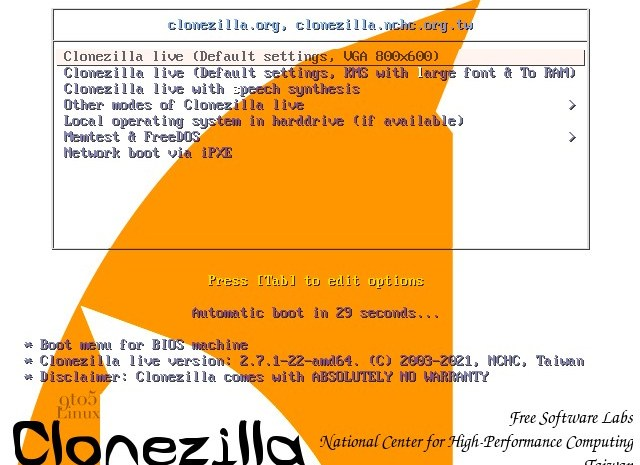 Clonezilla Live 2.7.1 Released with Linux 5.10 LTS, Improved Linux Software RAID Support