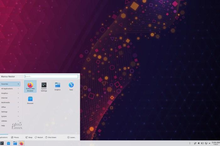 First Look at KDE Plasma's New Kickoff Applications Menu