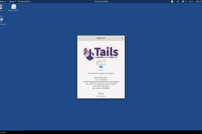 Tails 4.15 Anonymous OS Released with Tor Browser 10.0.9 and Thunderbird 78.6