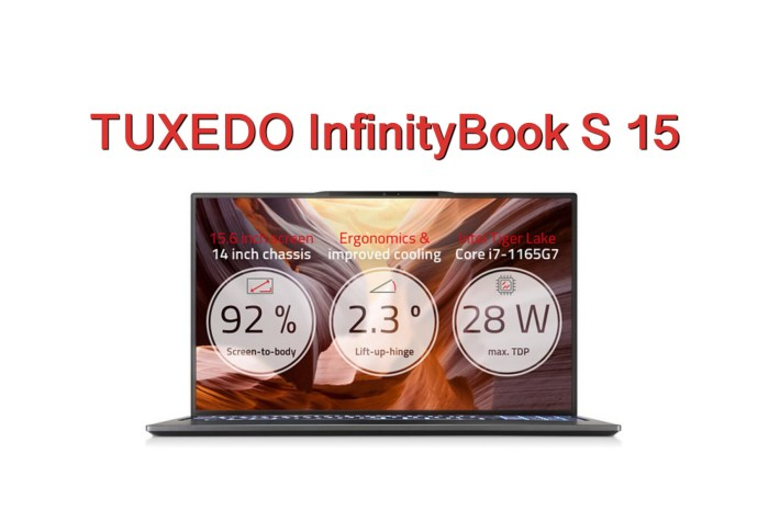 TUXEDO InfinityBook S 15 Linux Laptop Launches with Tiger Lake CPUs, Ultra Thin Design