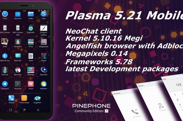 You Can Now Run KDE Plasma 5.21 on Your PinePhone with Manjaro Linux ARM