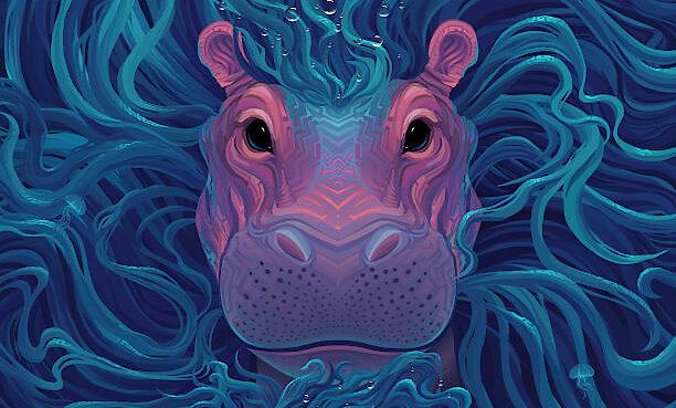 "Meet the Ubuntu 21.04 ""Hirsute Hippo"" Artwork by Sylvia Ritter, Made with Krita"