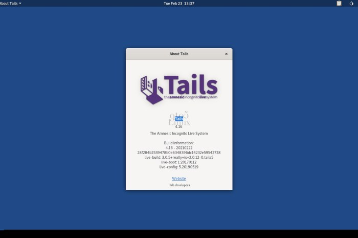 Tails 4.16 Anonymous OS Released with Linux Kernel 5.10 LTS, Latest Tor Technologies