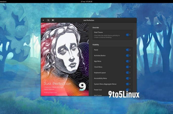 'Just Perfection' GNOME Shell Extension Now Lets You Customize Your GNOME 40 Desktop