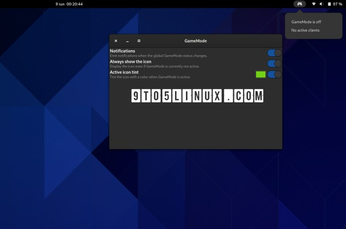 GameMode GNOME Shell Extension Finally Supports the GNOME 40 Desktop
