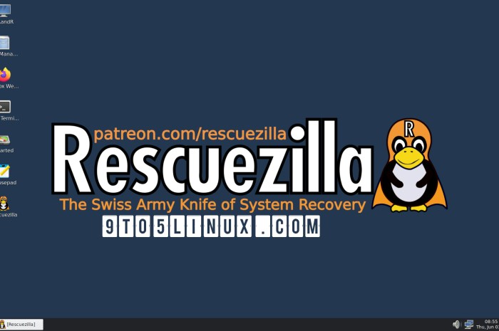 Rescuezilla 2.2 Supports Disk Cloning and NFS/SSH Shares, It's Based on Ubuntu 21.04