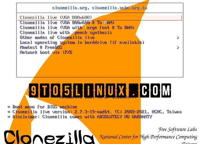 Clonezilla Live 2.7.3 Disk Cloning/Imaging Tool Released with Various Improvements