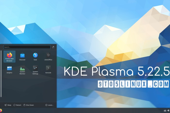 KDE Plasma 5.22.5 Released as the Last Update in the Series with More Bug Fixes