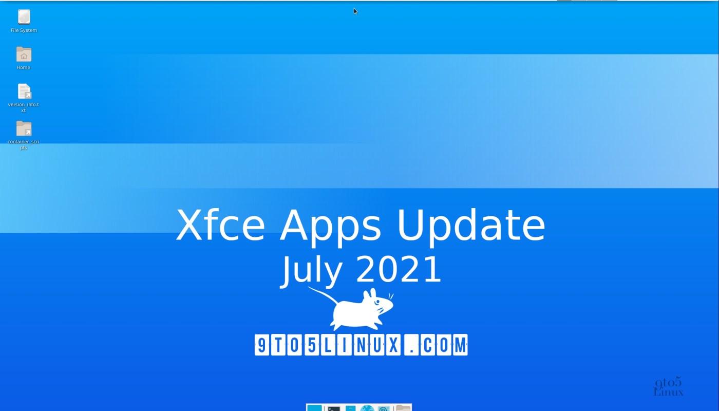 Xfce's apps July 2021