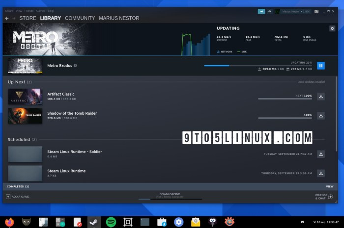 Valve Releases Major Steam Client Update with New Downloads Page, Linux Improvements