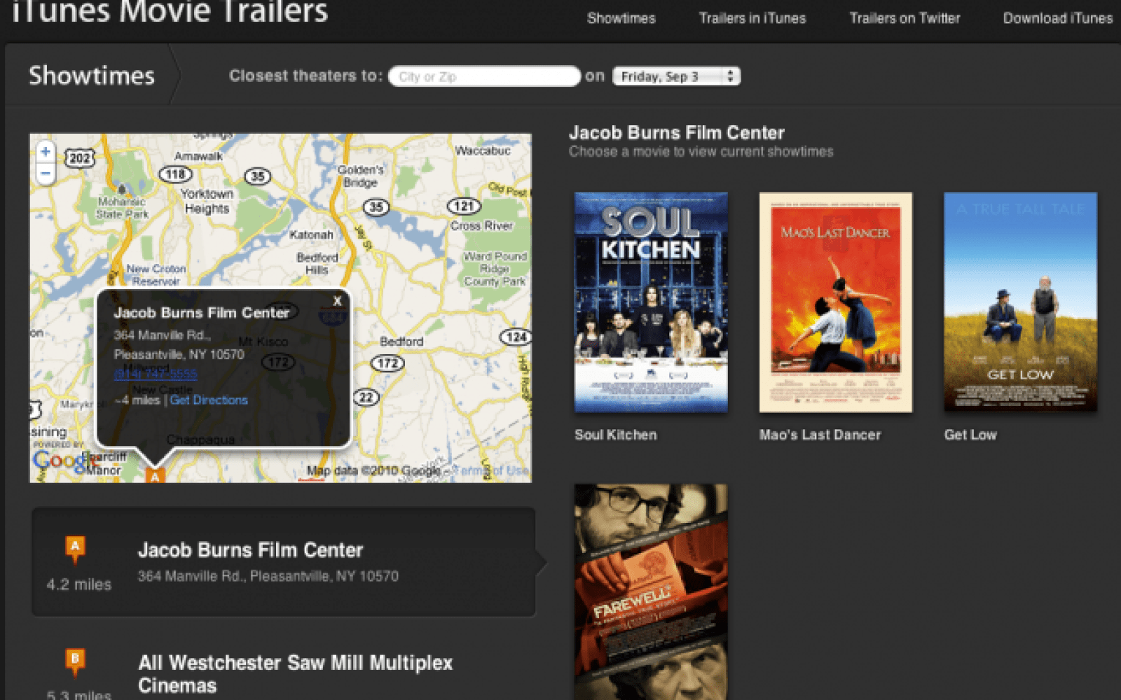Apple adds GPS-enabled showtimes to iTunes Movie Trailers site - 9to5Mac