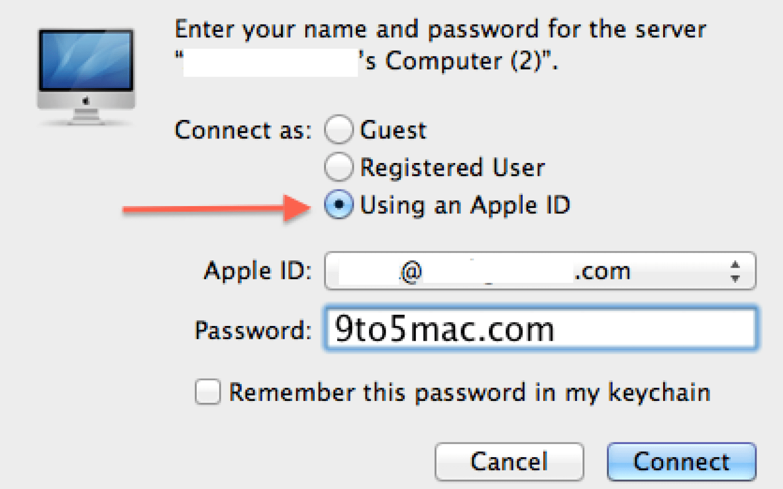 10 7 Lion lets you login to other Macs with an Apple ID  MobileMe's