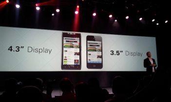 Motorola Razr (4.3-inch display vs 3.5-inch on iPhone 4S)