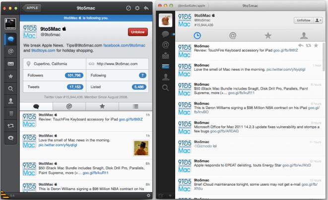 Tweetbot vs Twitter for Mac