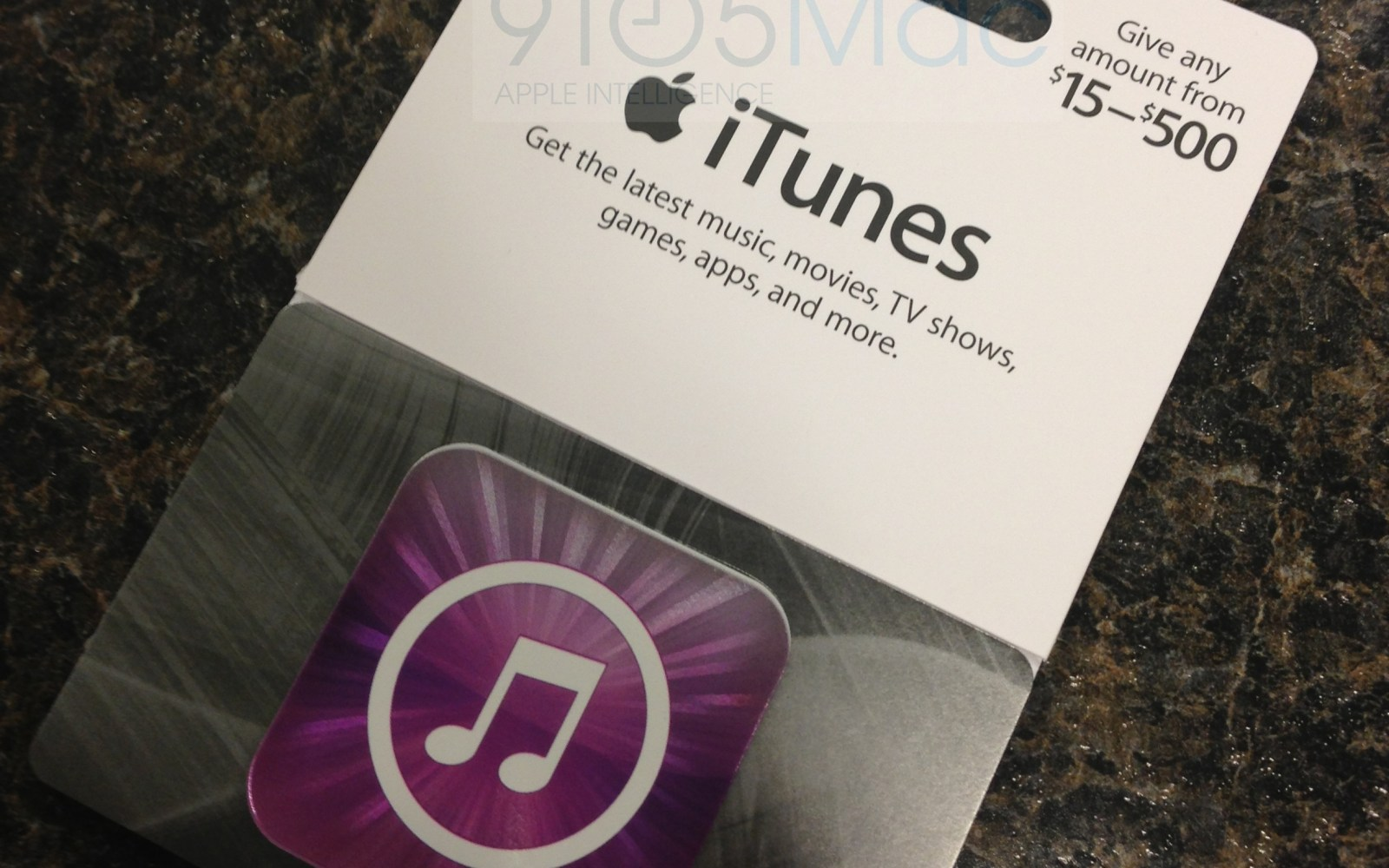 Apple Introduces Variable Cost Itunes Gift Cards To Third Party