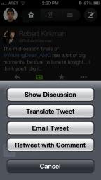 More tweet options