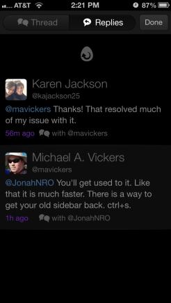Replies view
