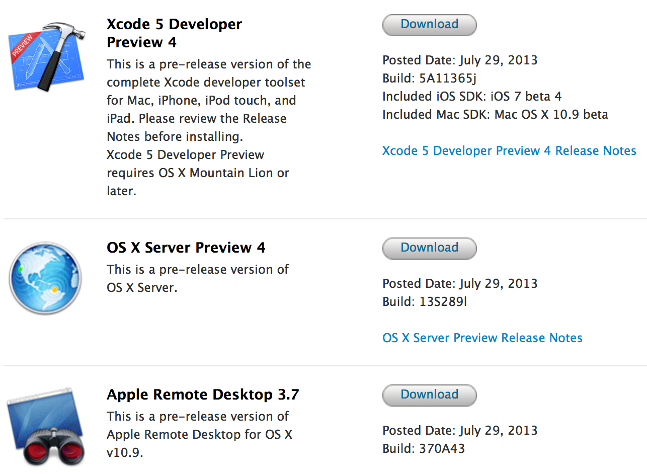 Apple puts out new Mac Xcode, Remote Desktop, OS X Server developer ... Apple puts out new Mac Xcode, Remote Desktop, OS X Server developer seeds