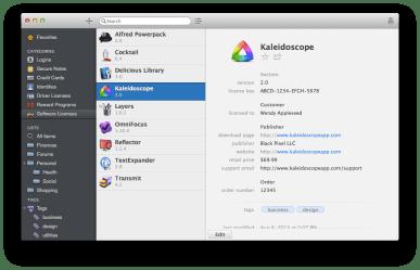 1P4 Mac software licenses