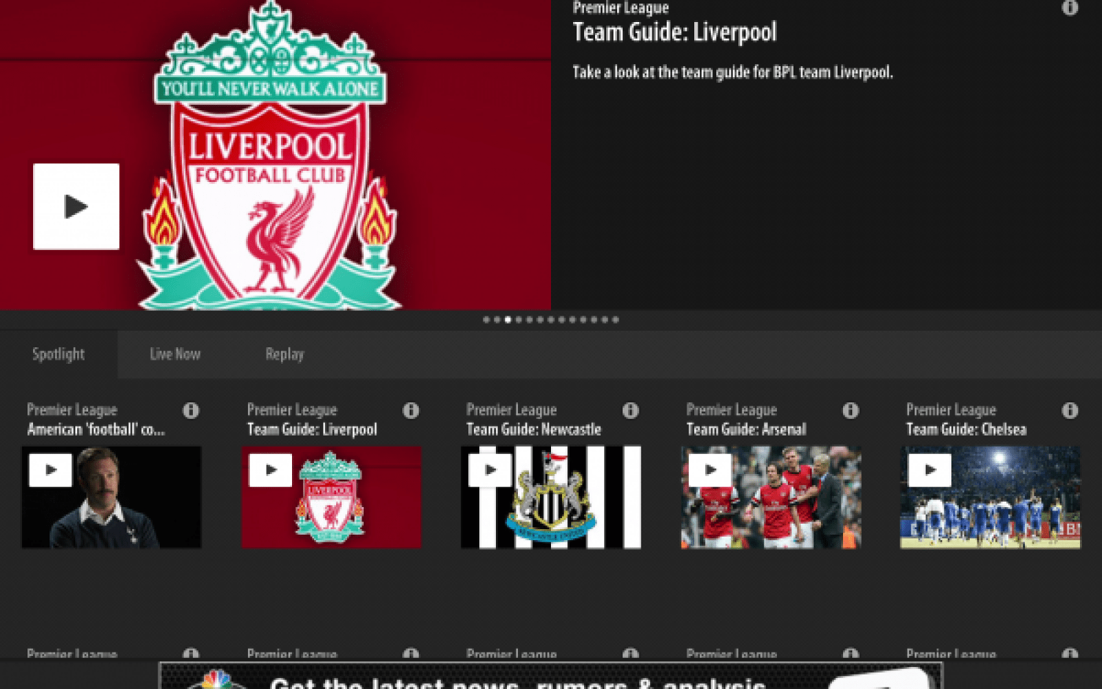 'NBC Sports Live Extra' app to stream all English Premier League matches in US