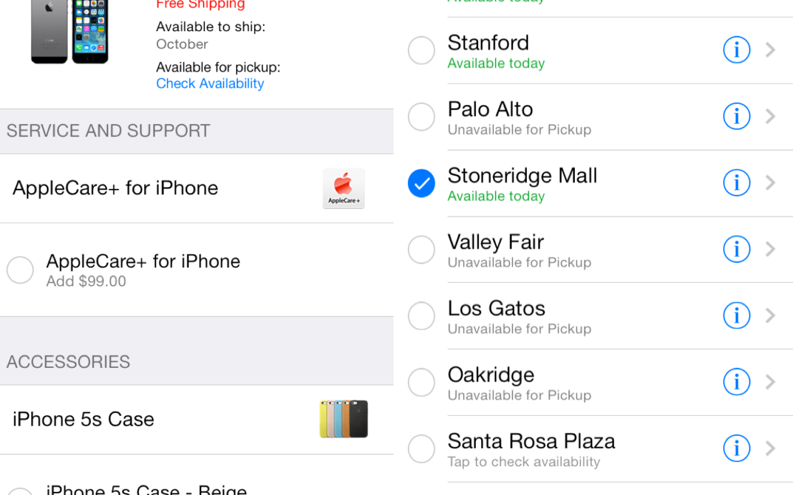 Apple now allows customers to check iPhone retail availability via Apple Store app