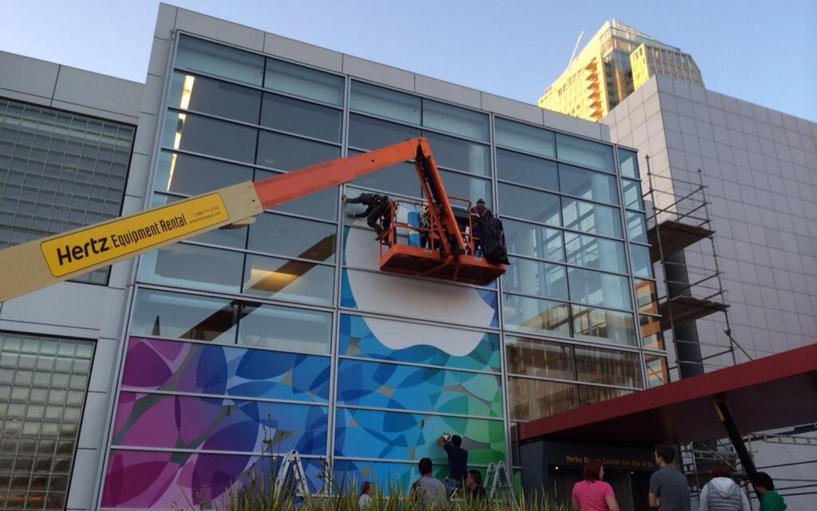 Apple begins dressing up Yerba Buena for Oct. 22nd iPad event