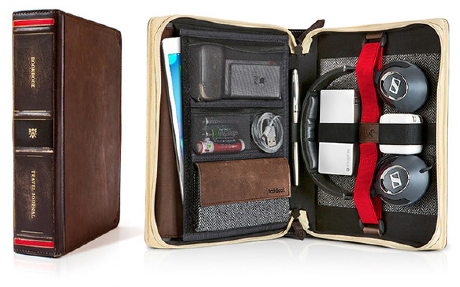 Twelve South's BookBook Travel Journal: a beautiful rich, leather case for your iPad, new or old