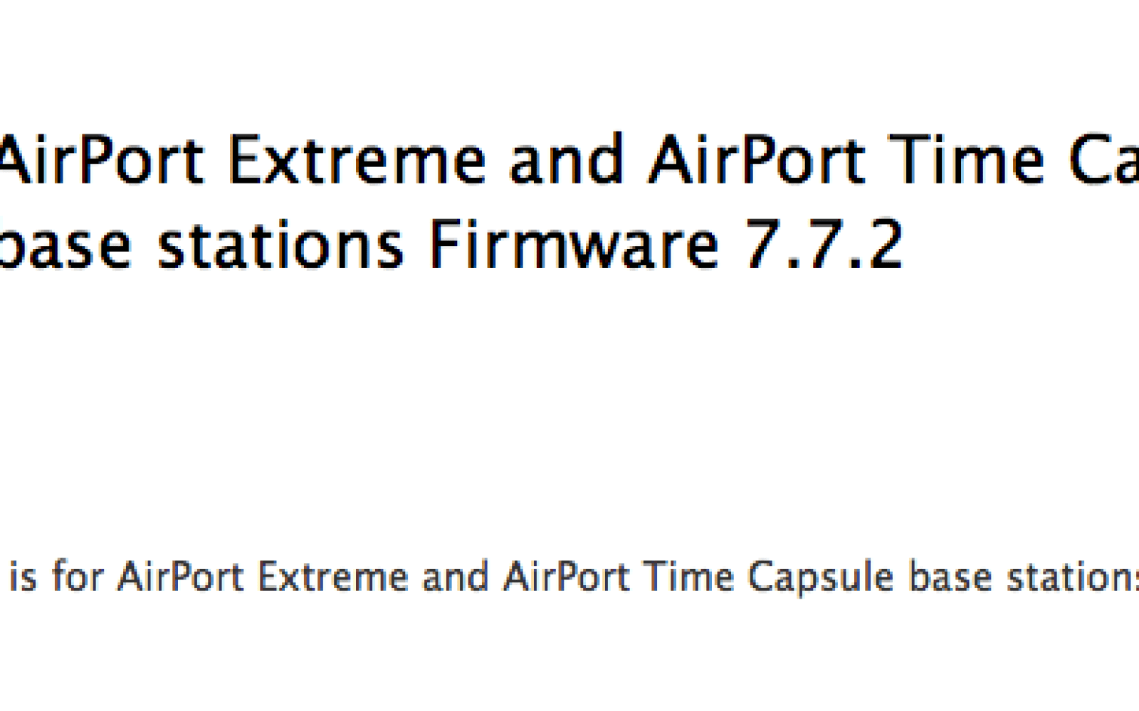 Apple issues AirPort Extreme and Time Capsule firmware