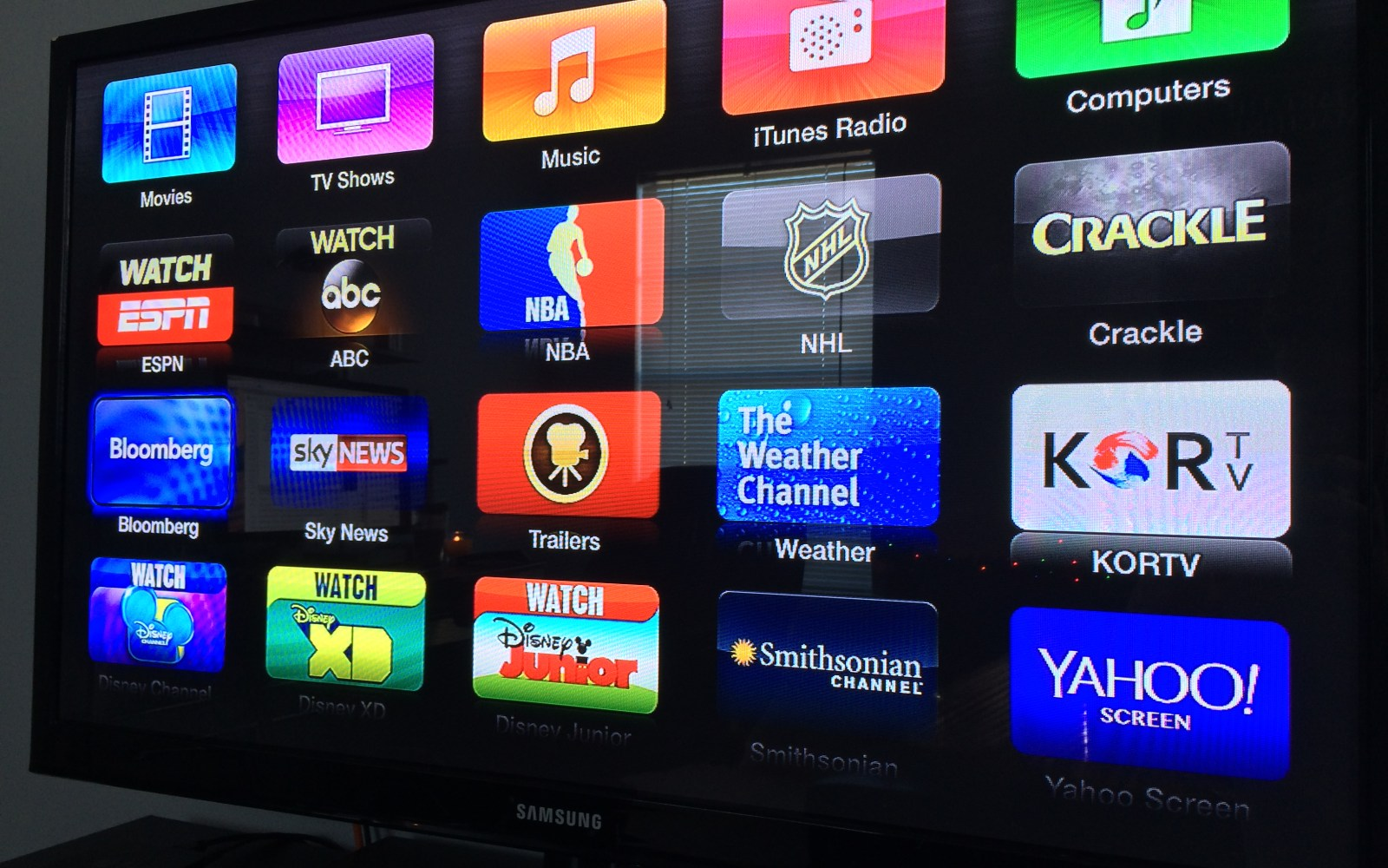 Apple TV adds Crackle, Watch ABC, and KORTV channels in addition to Bloomberg