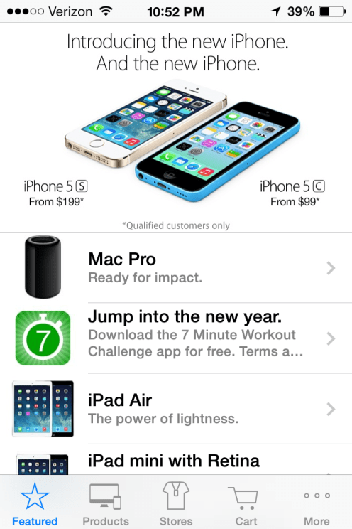 Apple Store app starts the new year by giving away fitness app