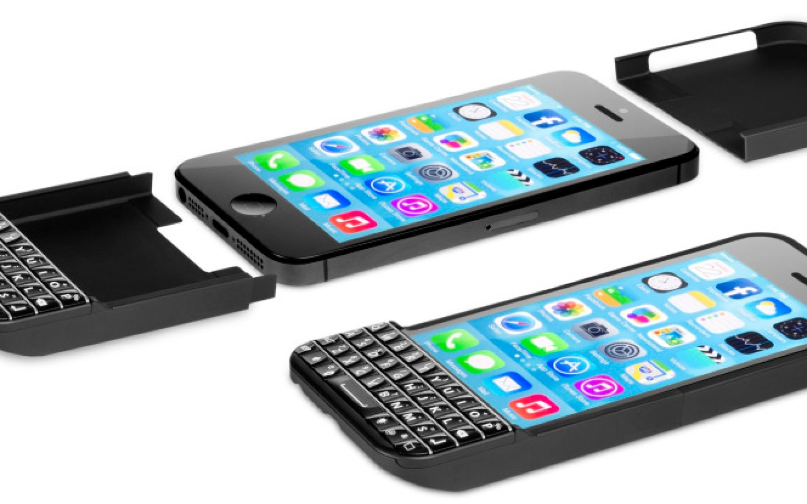 The smartphone's physical keyboard makes a last stand